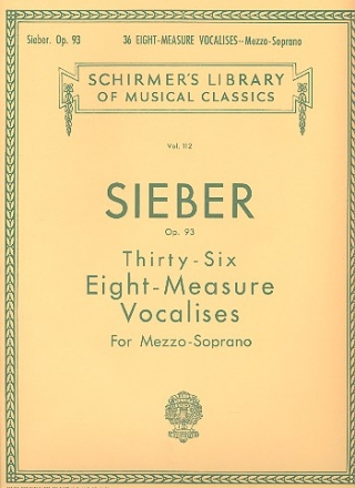 36 eight-measure Vocalises op.93 - for mezzo-soprano and piano