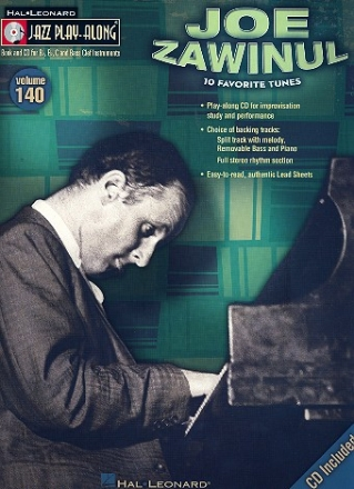 Jazz Play-Along vol.140 (+CD): Joe Zawinul for bb, eb and c instruments