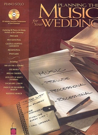 Planning the Music for your Wedding (+CD) - for piano