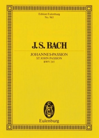 Johannes-Passion BWV245  Studienpartitur