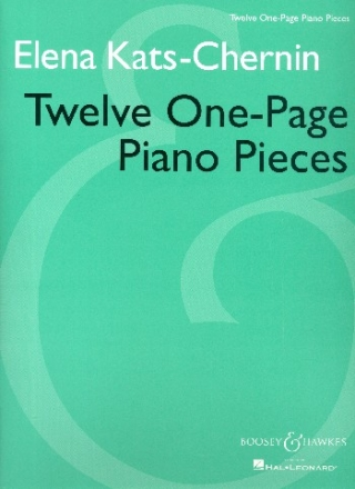12 One-Page Piano Pieces - für klavier