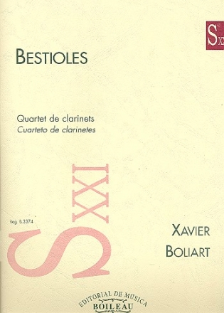 Bestioles for 3 clarinets and bass clarinet score and parts