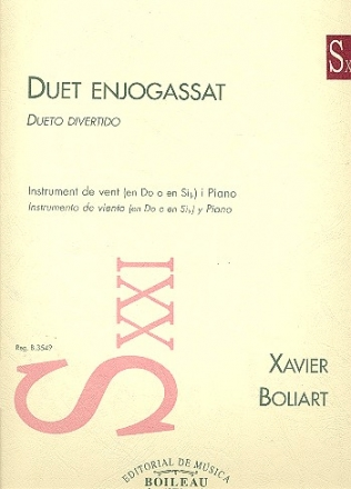 Duet enjogassat for wind instrument (in C or Bb) and piano