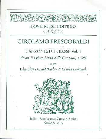 Canzoni a 2 bassi vol.1 for 2 bass instruments and bc Beecher, Donald, ed