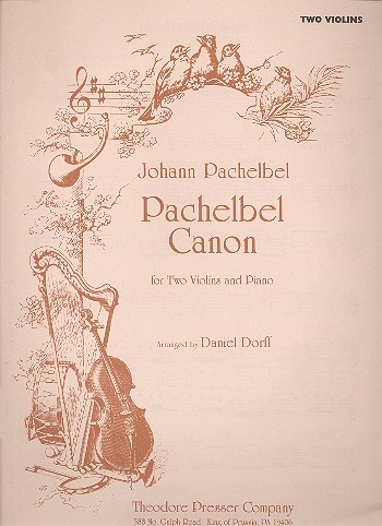 Canon for 2 violins and piano