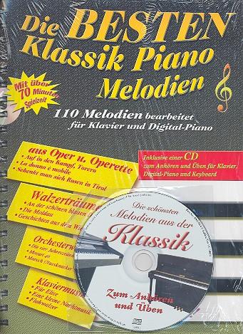 Die Besten Klaviere die besten klassik piano melodien cd 110 melodien bearbeitet für