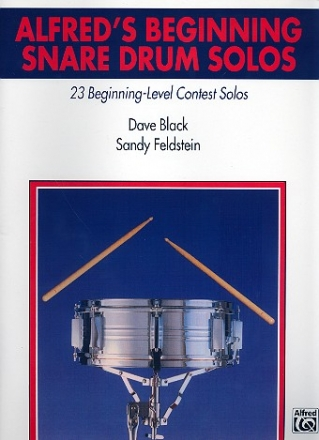 Alfred's Beginning Snare Drum Solos - 23 beginning-level contest solos
