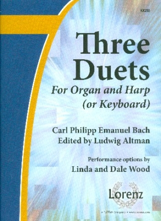 3 Duets for organ and harp or keyboard Altman, L., ed
