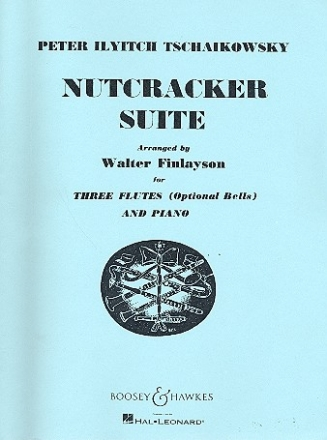 Nutcracker Suite - for 3 flutes and piano (bells ad lib) score and parts