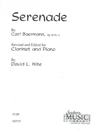 Serenade op.85,4 for clarinet and piano