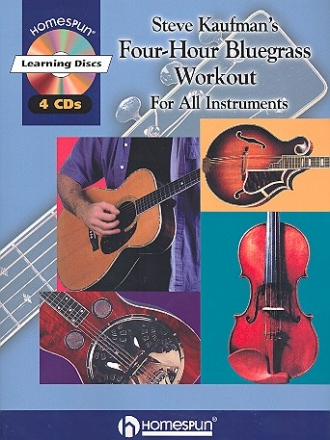 Four-Hour Bluegrass Workout (+ 4 CD's): for all instruments