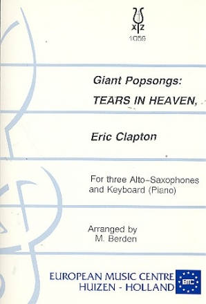 Tears in Heaven for 3 alto saxophones and piano (keyboard) parts