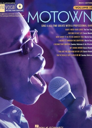 Motown (+CD): for male singers songbook vocal/guitar Pro Vocal Series vol.38