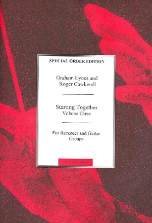 Starting together vol.3 - for recorder and guitar groups svore