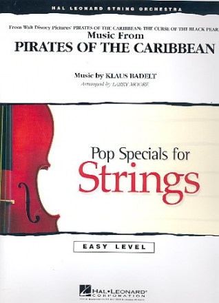 Pirates of the Caribbean - for 3 Violins, Viola, Cello, String Bass, Piano and Percussions  score and parts