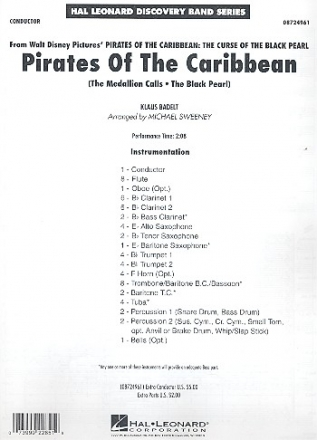 Pirates of the carribean - Medley for concert band conductor