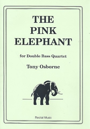 The pink Elephant for 4 double basses score and parts