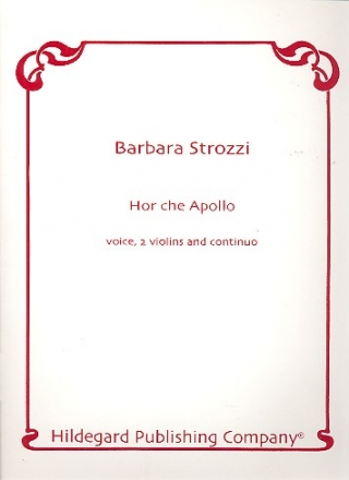 Hor che apollo for voice, 2 violins and Bc