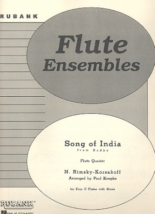 Song of India for 4 flutes score and parts