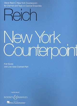 New York Counterpoint - for solo clarinet and clarinet ensemble (or tape) score and solo clarinet part