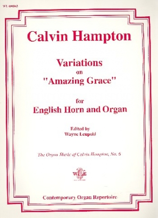 Variations on Amazing Grace - for english horn and organ
