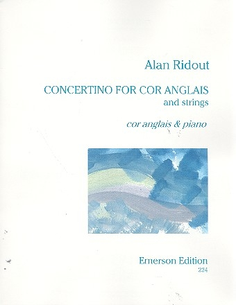 Concertino for cor anglais and strings for cor anglais and piano