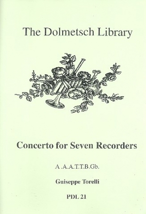 Concerto for 7 recorders (AAATTBGb) score and parts