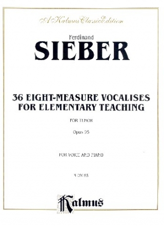 36 eight measure Vocalises for elementary Teaching op.95 - for tenor and piano