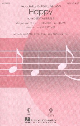 Happy - for female chorus and piano (instruments ad lib) vocal score