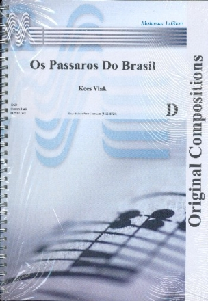 Os passaros do Brasil for Concert Band score and parts