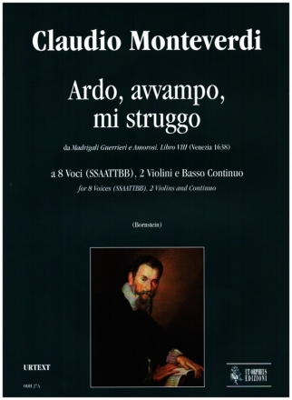 Ardo, avvampo, mi struggo for 8 voices (SSAATTBB), 2 violins and bc vocal score and parts