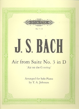 Air on the G String from Suite no.3 d major BWV1068 - for piano solo (organ 2-stave)