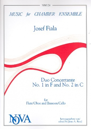 Duo concertante no.1 F major and no.2 C major for flute (oboe) and bassoon (cello)          score