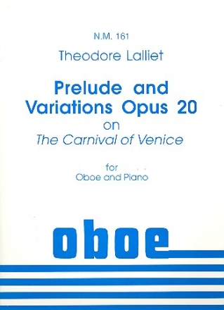 Prelude and Variations on The Carnival of Venise op.20 - for oboe and piano