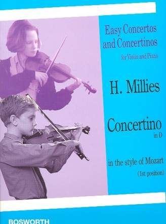 Concertino D major in the Style of Mozart - for violin (1. position) and piano