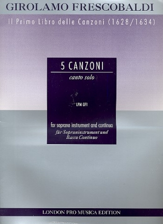 5 Canzonas for soprano instrument and bc score and part