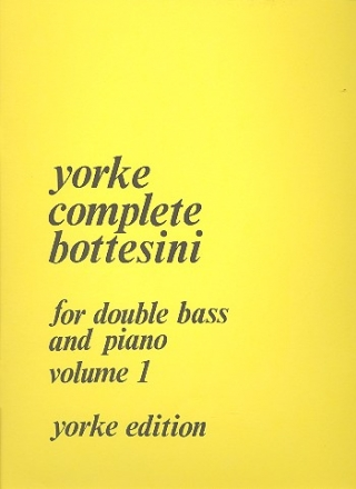 Complete Bottesini vol.1 for double bass and piano