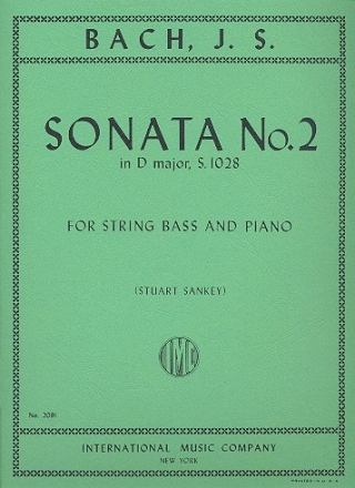 Sonata D major no.2 BWV1028 for double bass and piano