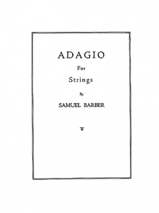 Adagio for Strings op.11 score