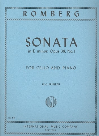 Sonata e minor op.38,1 - for cello and piano