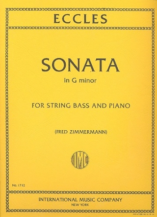Sonata g minor for double bass and piano