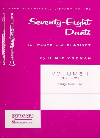 78 Duets vol.1 (Nos.1-55) for flute and clarinet