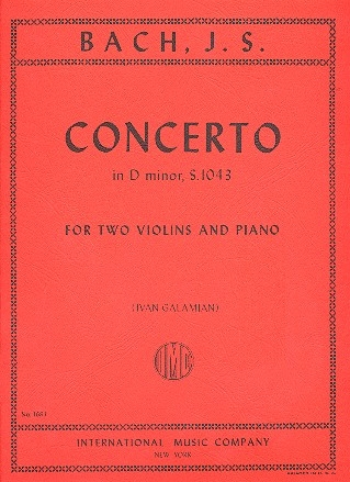Concerto d minor BWV1043 - for 2 violins and piano