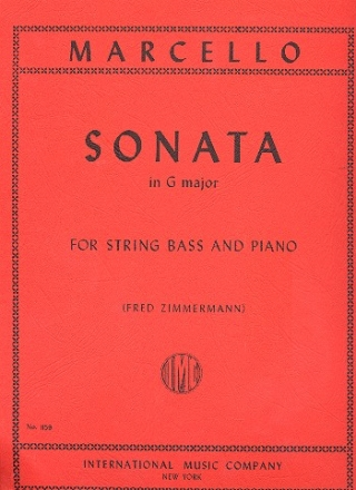 Sonata G major for double bass and piano