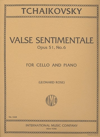Valse Sentimentale op.51,6 - for violoncello and piano