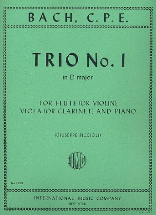 Trio d major no.1 for flute (violin), viola and piano