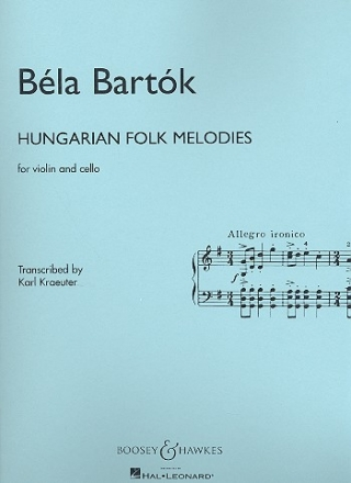 Hungarian Folk Melodies - for violin and cello,  2 scores