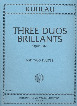 3 Duos Brillants op.102 for 2 flutes