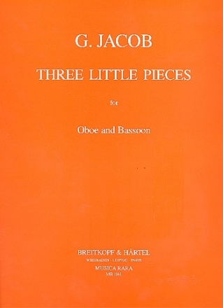 3 small Pieces for oboe and bassoon,  score