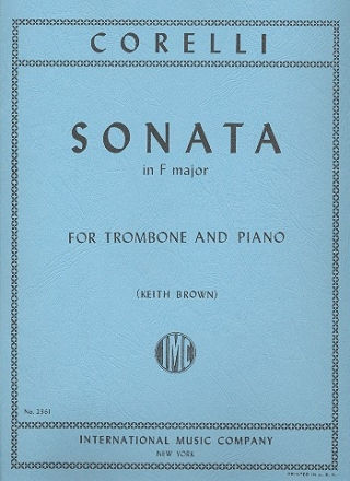 Sonata F major no.10 for trombone and piano